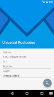 Screenshot of Universal Postcodes