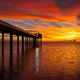 sunset at Sayak island. by Kamaruz Zaman - Landscapes Sunsets & Sunrises ( sunset, penang, malaysia, waterscapes )