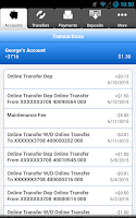 Screenshot of Columbia Bank Mobile