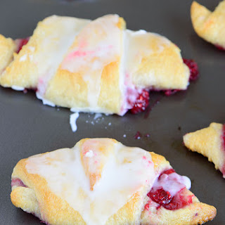 Easiest Raspberry Lemon Crescent Rolls