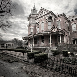The Empress by Joel Thompson - Buildings & Architecture Public & Historical ( old house, scary, eerie, victorian house, dar, little rock, hornibrook house, architecture, the empress, haunted house spooky, arkansas )