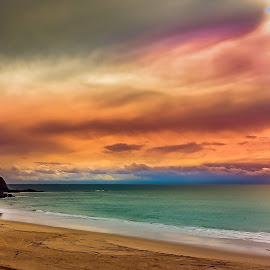 Wild Skys  by Dory Formiller - Landscapes Beaches ( water, sand, sky, california, colors, beach, cocktail cove,  )