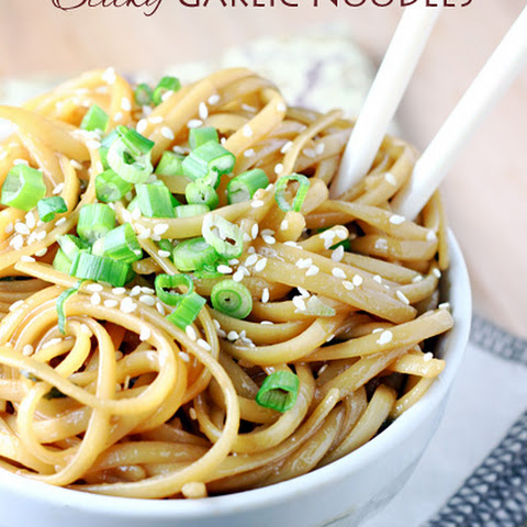 Sticky Garlic Noodles