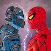 APK Game Spider Hero vs War Robots: Superhero Fighting Game for iOS