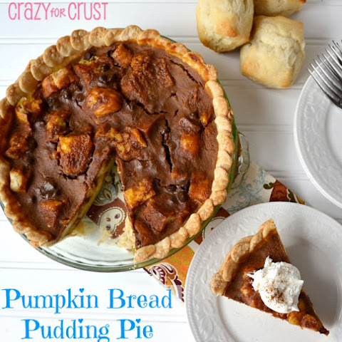 Pumpkin Bread Pudding Pie