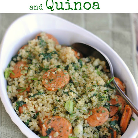 Quinoa Spinach and Chicken Sausage