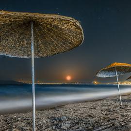 Avsa Island / Turkey by Serhat ALKAN - Landscapes Beaches ( avsa, sea, long exposure, turkey, moonrise )