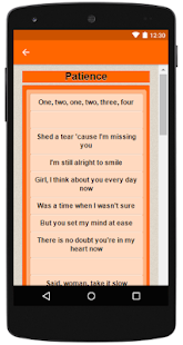 Guns N' Roses Top Lyrics - screenshot