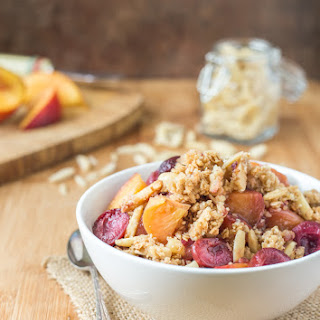 Gluten Free Peach Crumble with Cherries - {Recipe Book Review}