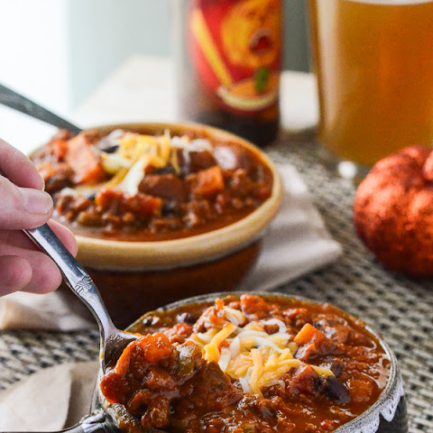 Spicy Pumpkin Sweet Potato Chili #PumpkinWeek