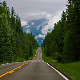 Pack the car! by Teri Garrison-Kinsman - Landscapes Travel ( montana roads, on the road in montana, seeley swan highway, travel montana, montana, montana vistas, montana beauty, montana highway, montana scenery )