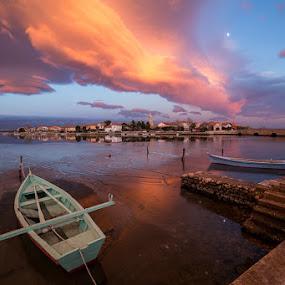 Nin by Ivan Stulic - Landscapes Sunsets & Sunrises ( sunset, croatia, lenticular cloud, nin, colours )
