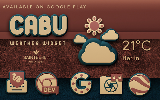 Cabu Digital Clock Widget - screenshot