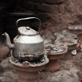 Teapot in Ourika Valley Market by Peter Podolinsky - Artistic Objects Other Objects
