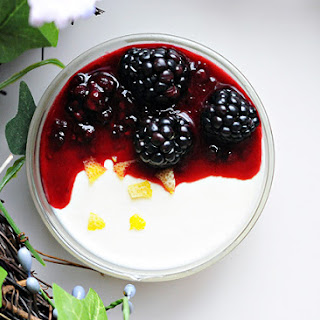 Lemon Panna Cotta . . . Less than 300 Calories Per Serving