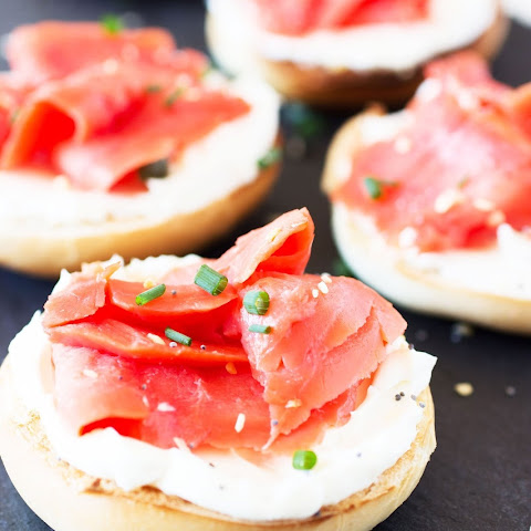 Mini Bagels and Lox