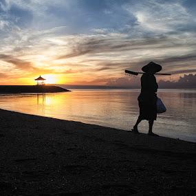 Sunrise from Mertasari Beach Sanur, Bali  by Aloysius Alphonso - Landscapes Sunsets & Sunrises