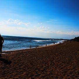 Under The Sun Control by Dinda Rifa Larasati II - Landscapes Beaches ( beaches, siluet, beach, people )