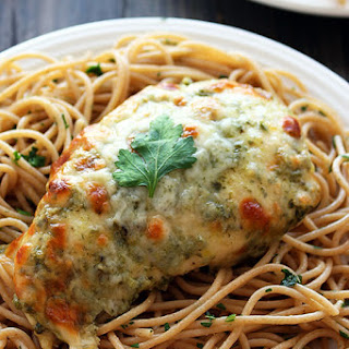 Baked Chicken Pesto Parmesan