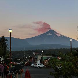 Vulcão em erupção em Pucon by Ivo Tunchel - City,  Street & Park  Street Scenes