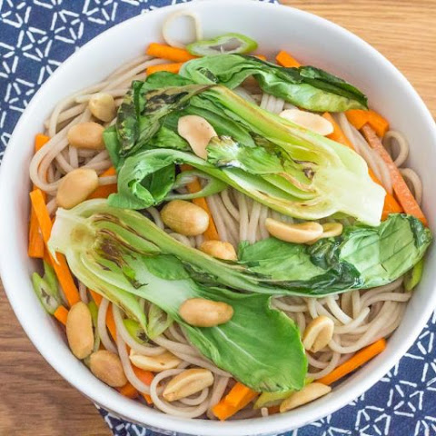 Peanut Soba Noodles with Bok Choy