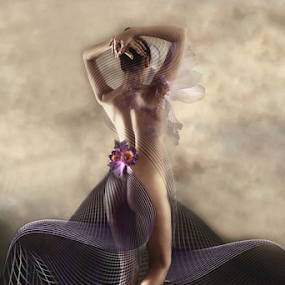 FLEUR by Carmen Velcic - Digital Art People ( abstract, body, nude, woman, flowers, digital )