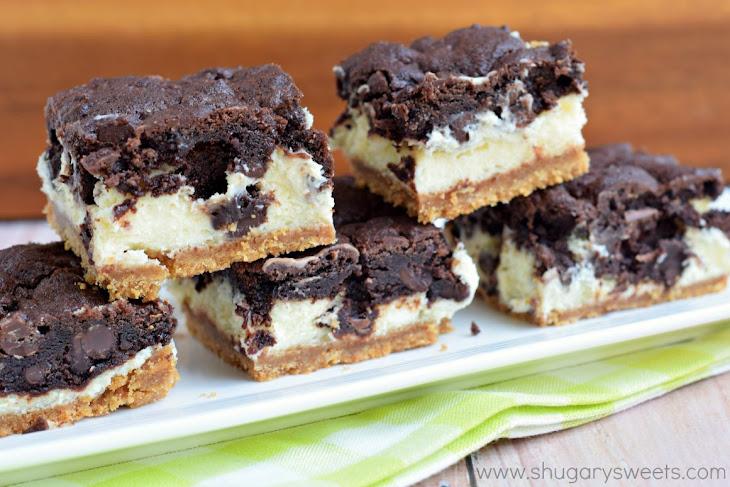 Chocolate Cheesecake Bars Recipe | Yummly