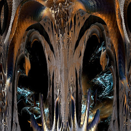 Ghost Of Cthulhu by Rick Eskridge - Illustration Sci Fi & Fantasy ( fantasy, jwildfire, mb3d, fractal, twisted brush )
