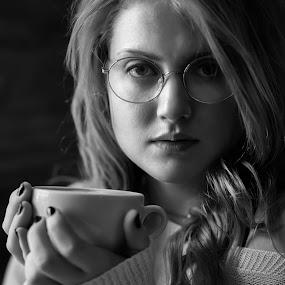 Ramona by Brian Pierce - People Portraits of Women ( ramona berryman, falmouth, cafe,  )