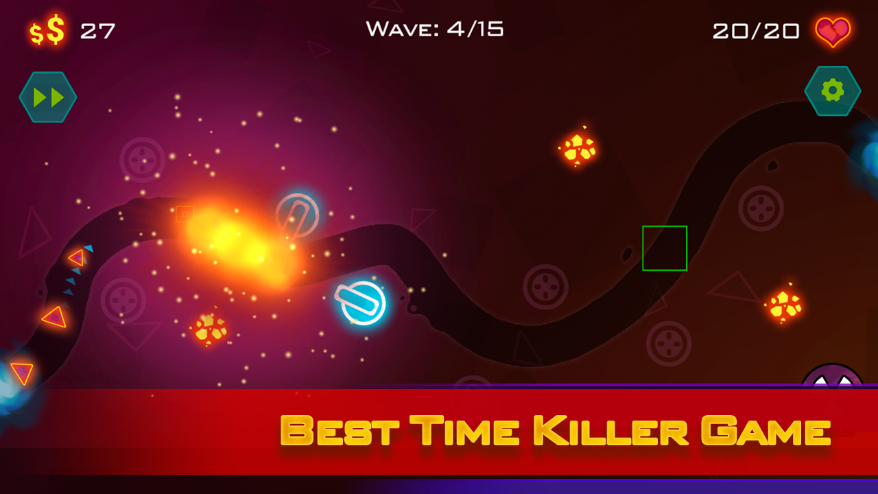 Tower Defense: Geometry War Screenshot 1