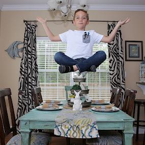Levitation by Mike Zegelien - Digital Art People ( action, photoshop, manipulation, boy, levitation, child )