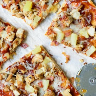 BBQ Chicken, Bacon and Pineapple Flatbread