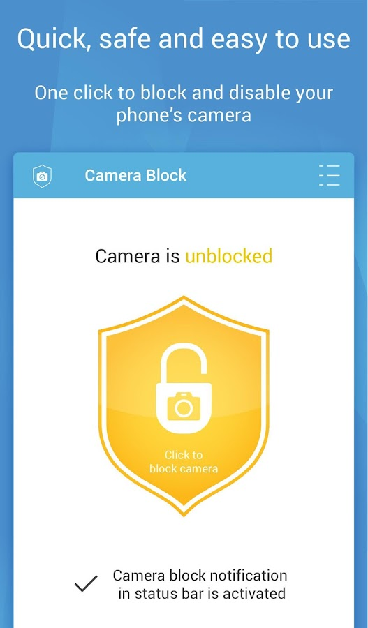 Camera Block - Anti spy-malware Screenshot 2