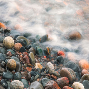 Smooth and Polished by Jon Kinney - Nature Up Close Rock & Stone ( waves, rocks )