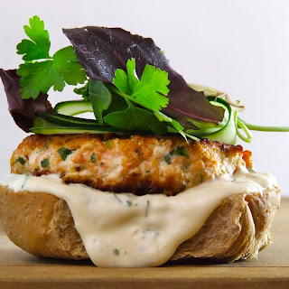Sundried Tomato & Goat Cheese Salmon Burgers
