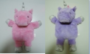 Игрушка мягконабивная плюшевая Единорог-грелка, фиолетовый, Город Игр