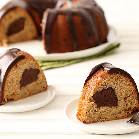 Banana Fudge Bundt Cake