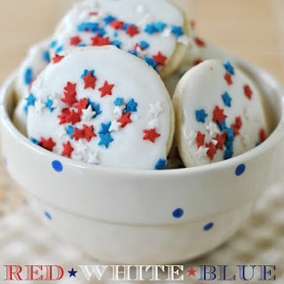 Red, White, and Blue Icebox Cookies