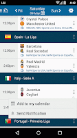 Screenshot of Live Soccer TV broadcast guide