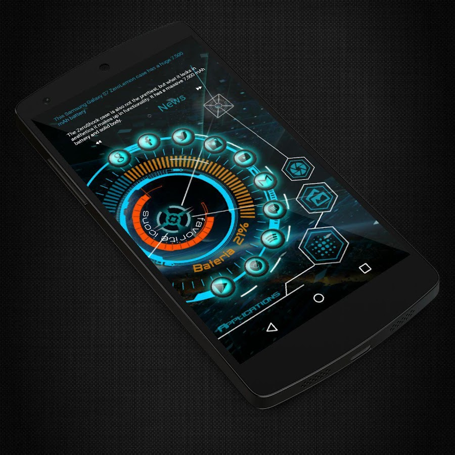 KLWP 2 Themes Futuristic Screenshot 2