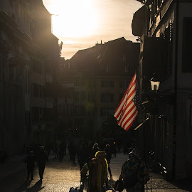 We love you America  by Augustin Anic - City,  Street & Park  Street Scenes ( solothurn, carnival, ch, sunlight, usa )