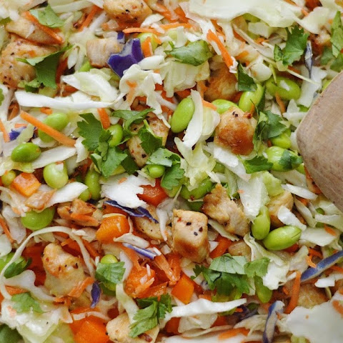 Asian Chopped Chicken Salad with Peanut Dressing