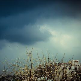 The cloud above by Prasanta Das - City,  Street & Park  Skylines ( neighborhood, scene, cloudy )