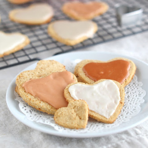 Coconut Flour Valentine's Day Heart Cookies