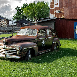 too the moon by Dougetta Nuneviller - Transportation Automobiles ( clunker, car, classic car, junker, vintage, automobile, hotrod, transportation, classic )