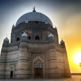 Mizar by Abdul Rehman - Instagram & Mobile iPhone ( pakistan, tomb, sunset, summer, sunshine, architecture, sunlight )