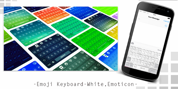 Emoji Keyboard-White,Emoticon - screenshot