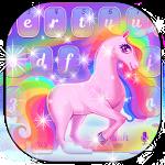 Rainbow Cartoon Unicorn Keyboard Theme Icon