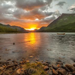 Sunset night by Benny Høynes - Landscapes Sunsets & Sunrises (  )