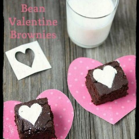 Chocolate Bean Valentine Brownies